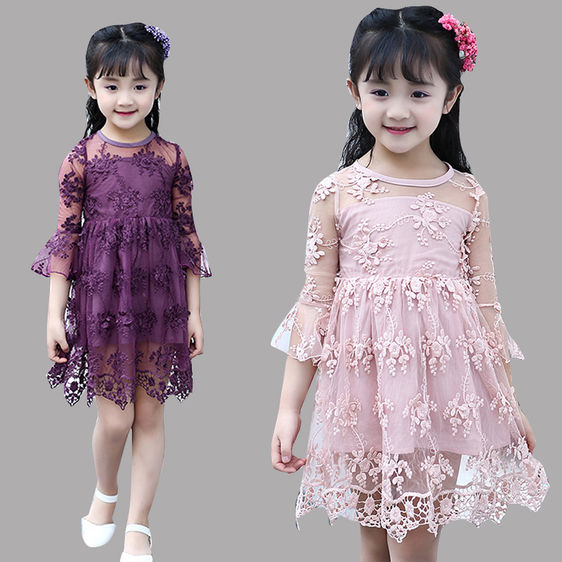 Children Lace Dresses For Girls Clothing Elegant Tulle Princess Party Dresses 2 3 4 6 8 10 12 Years Brand Wedding Dress Vestidos pink kids baby girls party dresses lace princess dress for baptism wedding children clothing girl tulle tutu dress 2 6 years