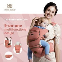 2015 New Luxury 8 In 1 Hipseat Ergonomic Baby Carrier 360 Mochila Portabebe Baby Sling Backpack