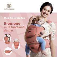 Lujo 9 en 1 portador hipseat bebé ergonómico 360 mochila portabebe honda mochila de bebé Canguros para niños abrigo del bebé