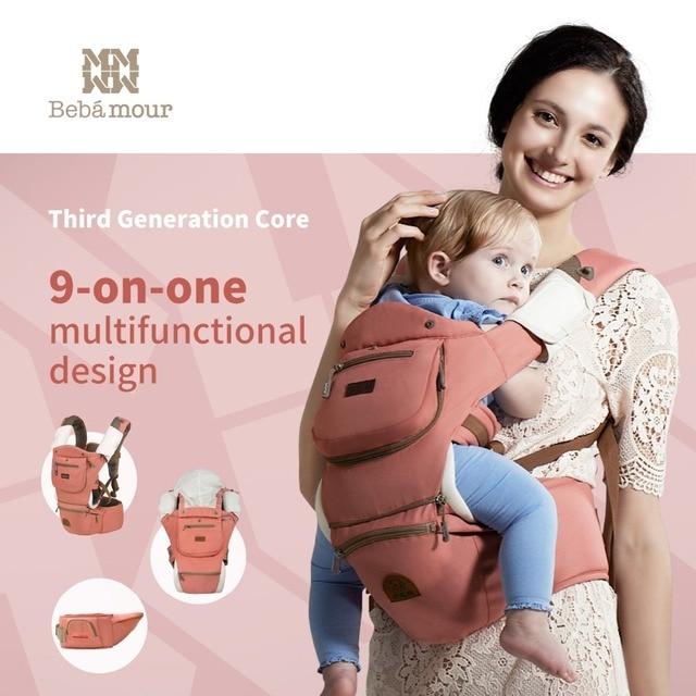 luxury 9 in 1 hipseat ergonomic baby carrier 360 mochila portabebe baby sling backpack Kangaroos for children baby wrap