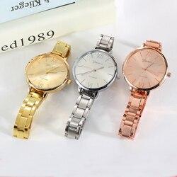 2019 Luxury Fashion Women Quartz Business Geneva Watch Steel Strap Female Gift Wrist Watch Ladies Dress Simple Clock reloj mujer