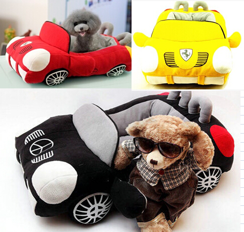 Car Shaped Pet Cushion Dog Bed House Bed Cat Bed Cushion Kennel Pens Doggy Puppy Sofa