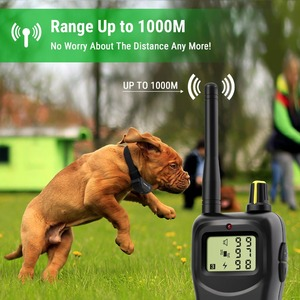 Image 2 - Petrainer 900B 1 Rechargeable and Waterproof Remote 1000m Electric Dog Trining Collars  Vibrate & Electric Shock Collar For Dogs
