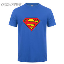 New Fashion Superman T Shirt Summer Style Men Short Sleeve Cotton Casual T-shirt Superhero Top Tees free shipping(China)