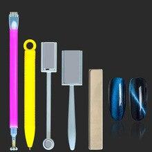 New fashion 1PC Cat Eye Magnet Stick Pen For UV Gel Polish 3D Line Strip Flower Effect Magical Board Manicure Nail Art Tools
