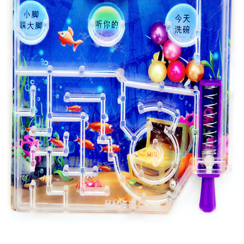 Kids Gift Targets Pinball Toy Party Pocket Shooting Balls Funny Intelligence Challenging Games Machine Mini Cartoon Random Color