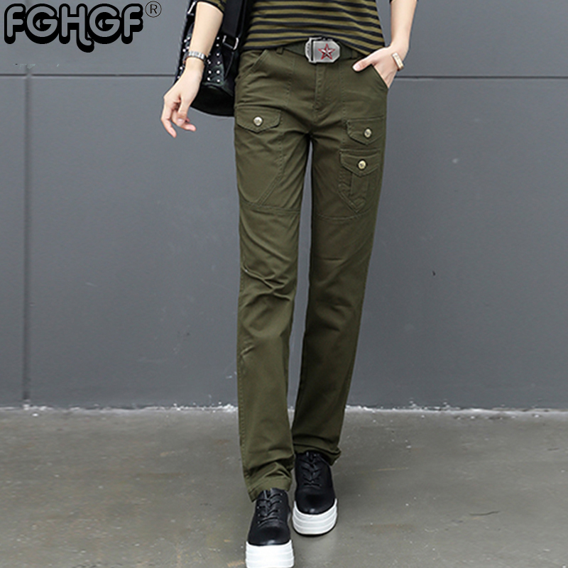 2018 Women Casual   Pants   Plus Size Jogger   Pants   Military Camouflage Women Cargo   Pants   Slim Fit Female Cotton   Capris   2852