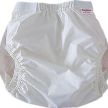 FUUBUU2228-WHITE водонепроницаемые штаны/подгузники для взрослых/штаны для недержания/подгузники с карманами