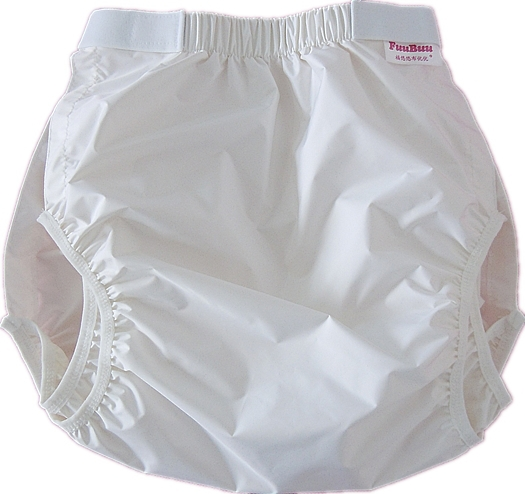 Free Shipping FUUBUU2228-WHITE  Waterproof Pants/Adult Diaper/incontinence Pants /Pocket Diapers