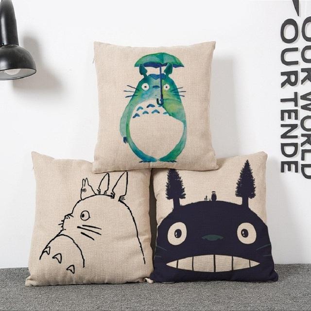 Totoro Pillow Cushion Cover – Home Decorative Pillow Sofa Cushion Cover 4 Edition