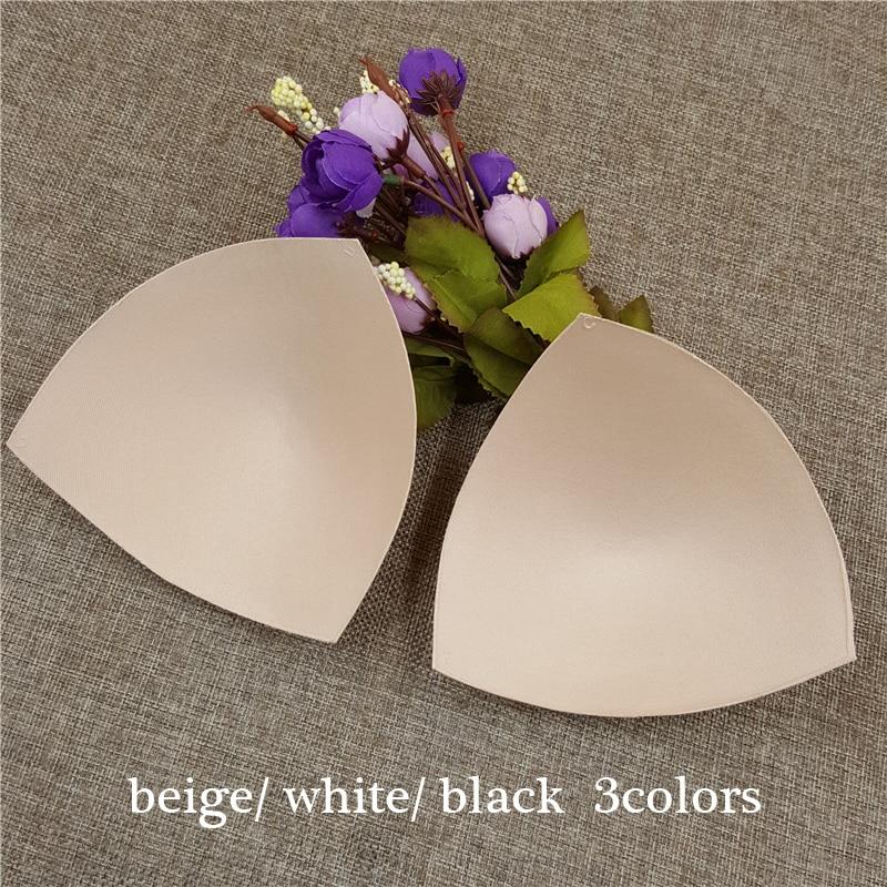 50pairs lot women high quality Triangle Sponge Bra Pad Removable Insert Breast Bikini Enhancers Intimate Accessorories