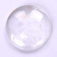 Natural Rock Clear Quartz Crystal Ur Stone Round Cabochon CAB Flatback Gemstone Pick Crystal Wholesale Dropshipping