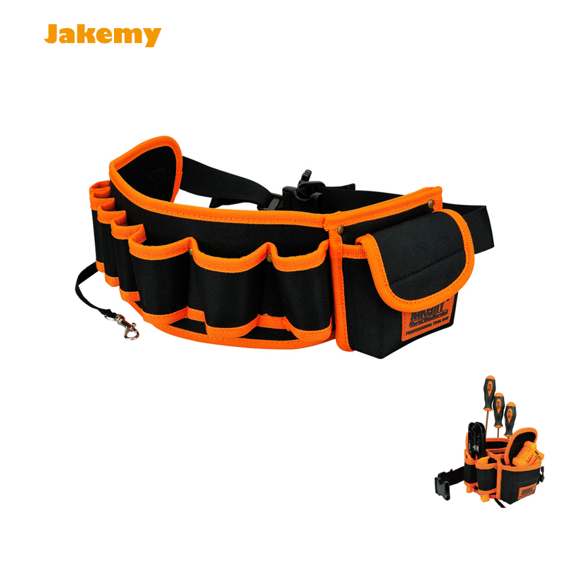 Jakemy Multi Function Portable JM B04 Electrician Canvas Repair Waist Tool Bag Belt Easy To Carry