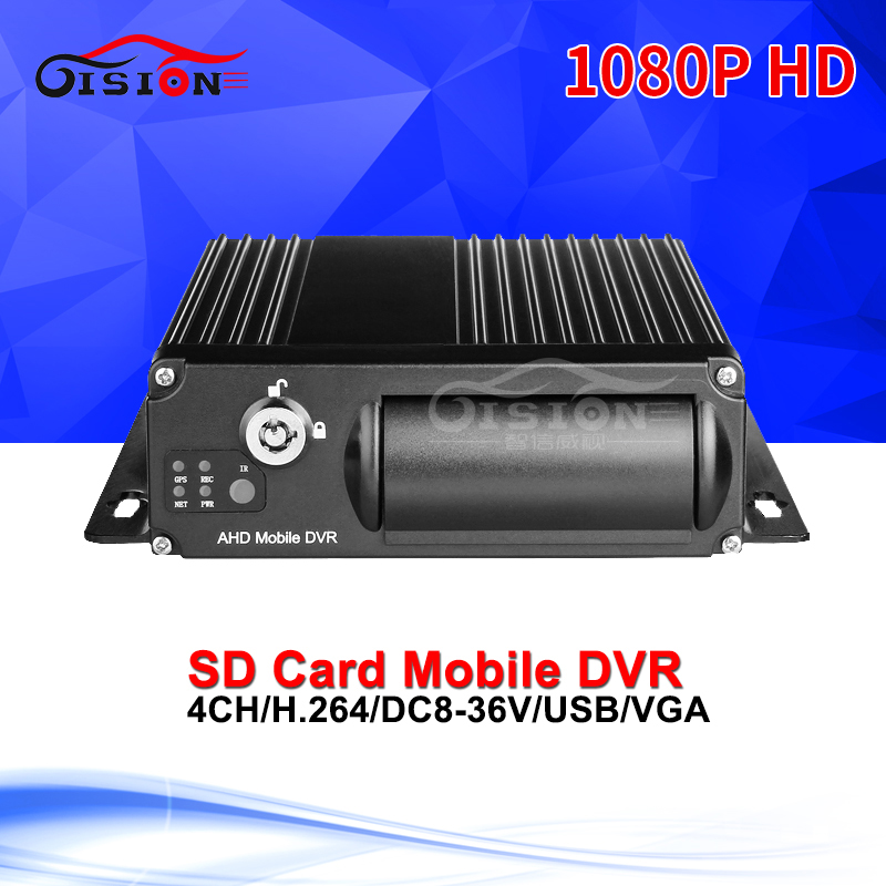 H.264 Dual SD Card Security Mobile Dvr 4CH Video Recorder Car Accessories Support Playback  Loop Recording AHD 1080P Car Dvr new dvr 4 channel h 264 4ch full d1 real time recording support network mobile phone cctv dvr recorder 4ch security dvr