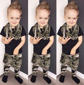0-3Y Baby Boys Kid Summer Tops + Long Pants Camouflage Outfits Clothes Sets 2Pcs Grey and Black NEW Fashion