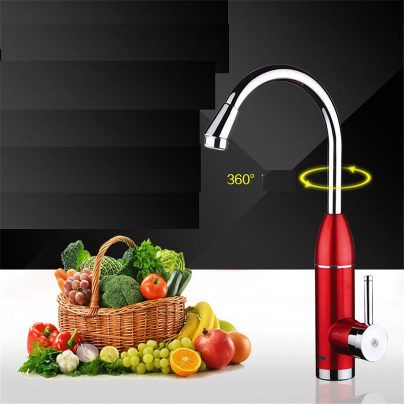 XMS03-1,Digital Display Instant Hot Water Tap,warmtoo 220V 50HZ LED Electric Faucet Instant Tankless