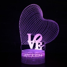3D Visual LED USB Lamp LOVE Sweet Lover Heart Balloon Romantic Decorative Colorful Night Light Girlfriend Gift Mother's Day 3d visual bulb optical illusion colorful led lamp touch romantic holiday night light love heart wedding valentine day gift