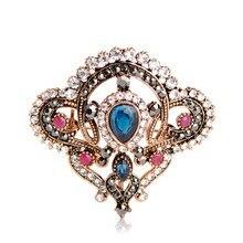 Turkish Retro Crystals and Resin Brooch