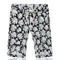 Hombres Pantalones Cortos de Verano Más Tamaño Recto de Algodón Floral Media Pantalones Para Los Hombres de Moda Casual Más Tamaño Beach Shorts SL-E504
