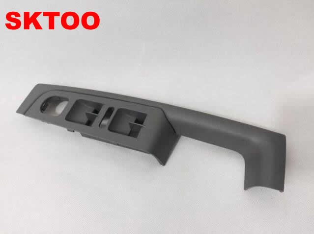 SKTOO For Skoda Superb door handle front left door armrest box inner handle frame, the lifter switch box Gray