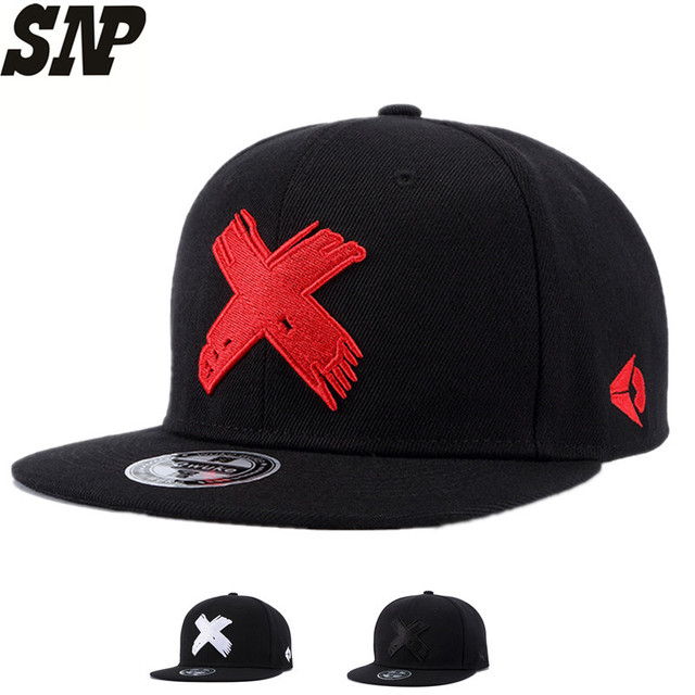 SNP New High Quality Men and Women Snapback cap X embroidery flat brim baseball  cap youth 1f88e9925652