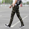 Hot sale 2016 men's fashion feet pants zipper fashion casual camouflage pants pants free shipping