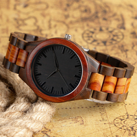 Modern Fashion Wrist Watch Cool Men Quartz Analog Nature Wood Hot Fold Clasp Bangle Bamboo New