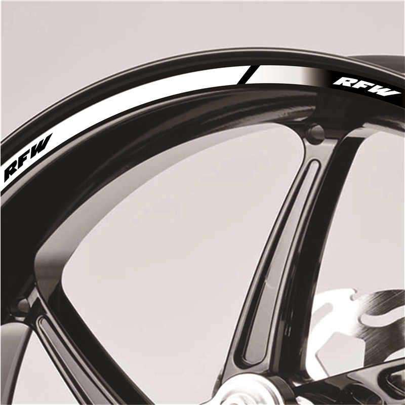 Мотоциклетные наклейки на внутреннее колесо обода Светоотражающие украшение Наклейки для APRILIA RFW