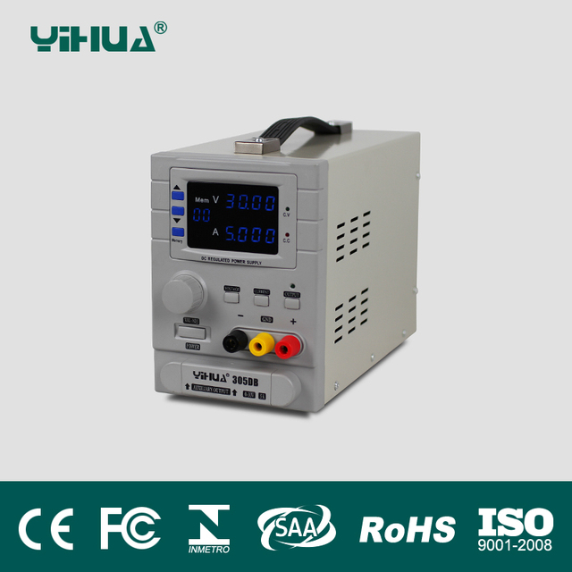 US $141 36 7% OFF|YIHUA 305DB variable dc power supply, multiple / triple /  dual output dc power supply 110V/220V EU/US PLUG-in Voltage