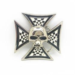 Покрытие яркий крест череп пряжка на ремешке металлический зажим для ремня ремень Интимные аксессуары