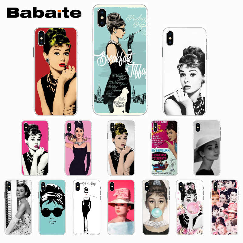 Babaite Audrey Hepburn Novelty Fundas Phone Case for iPhone X XS XR XSMax 6 6S 7 7plus 8 8Plus Xs 5 5s 5c SE11 11pro 11promax