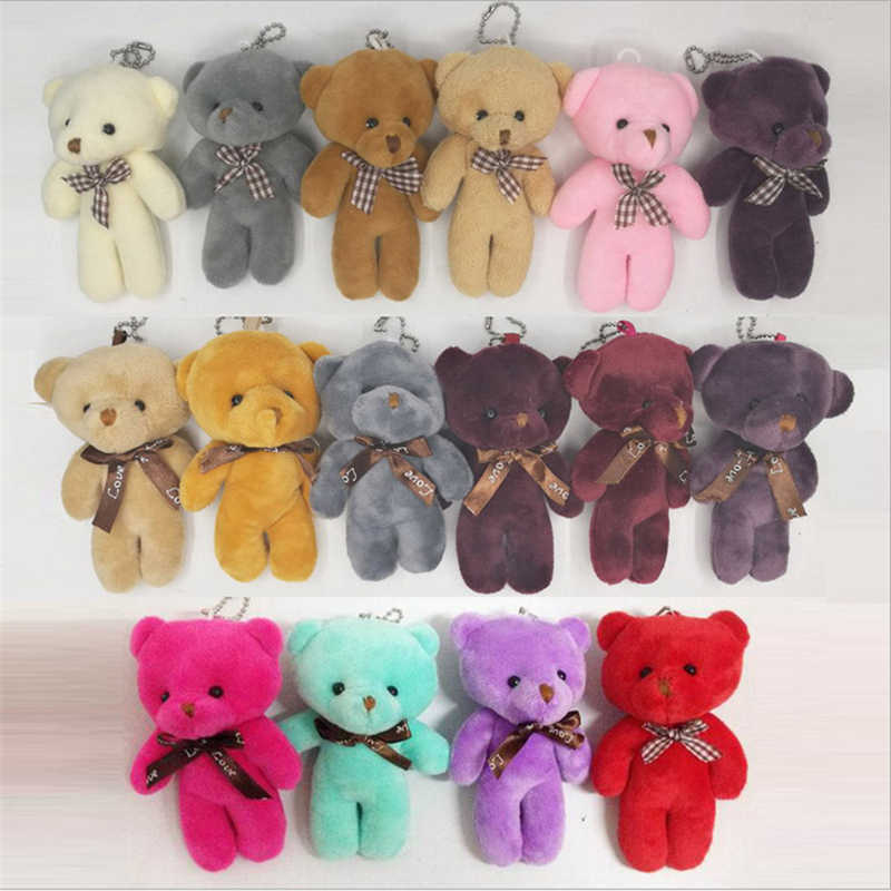 new fashion cute animal soft stuffed plush doll bear keychain for bag phone hanging car key holder popobe gloomy key rings gifts
