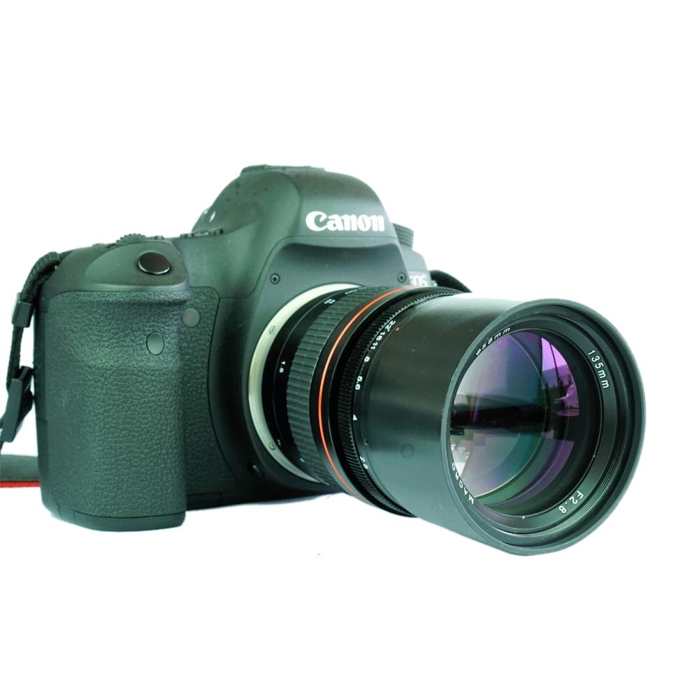 JINTU 135mm F/2.8 Plein Cadre Monture EF Objectif pour Canon EOS 1100D 1200D 1300D 550D 650D 750D 800D 60D 70D 80D 5DII 5DIII Caméra
