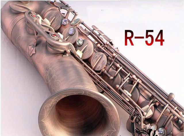 Czerwona antyczna miedź saksofon tenorowy niestandardowy saksofon tenorowy Instrument dedykowany mosiężna rurka saksofon B płaski saksofon