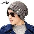 2016 Mens Knitting Winter Hats Caps Men Hip Hop Skullies Beanies Sport Knit Wool Beanie Hat Cap Unisex Male Warm Bonnets M0635