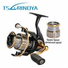 Trulinoya Spinning Reel + One Spare Spool Fishing Reel 2000 Series 5.2:1 9BB 6Kg Drag Power Carp Reel
