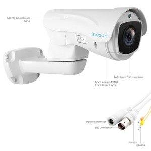 Image 4 - Inesun cámara PTZ para exteriores, 2MP, 1080P, 10X Zoom, 4 en 1, HD, AHD/CVI/TVI/CVBS, vídeo vigilancia, 330 pies, láser, visión nocturna