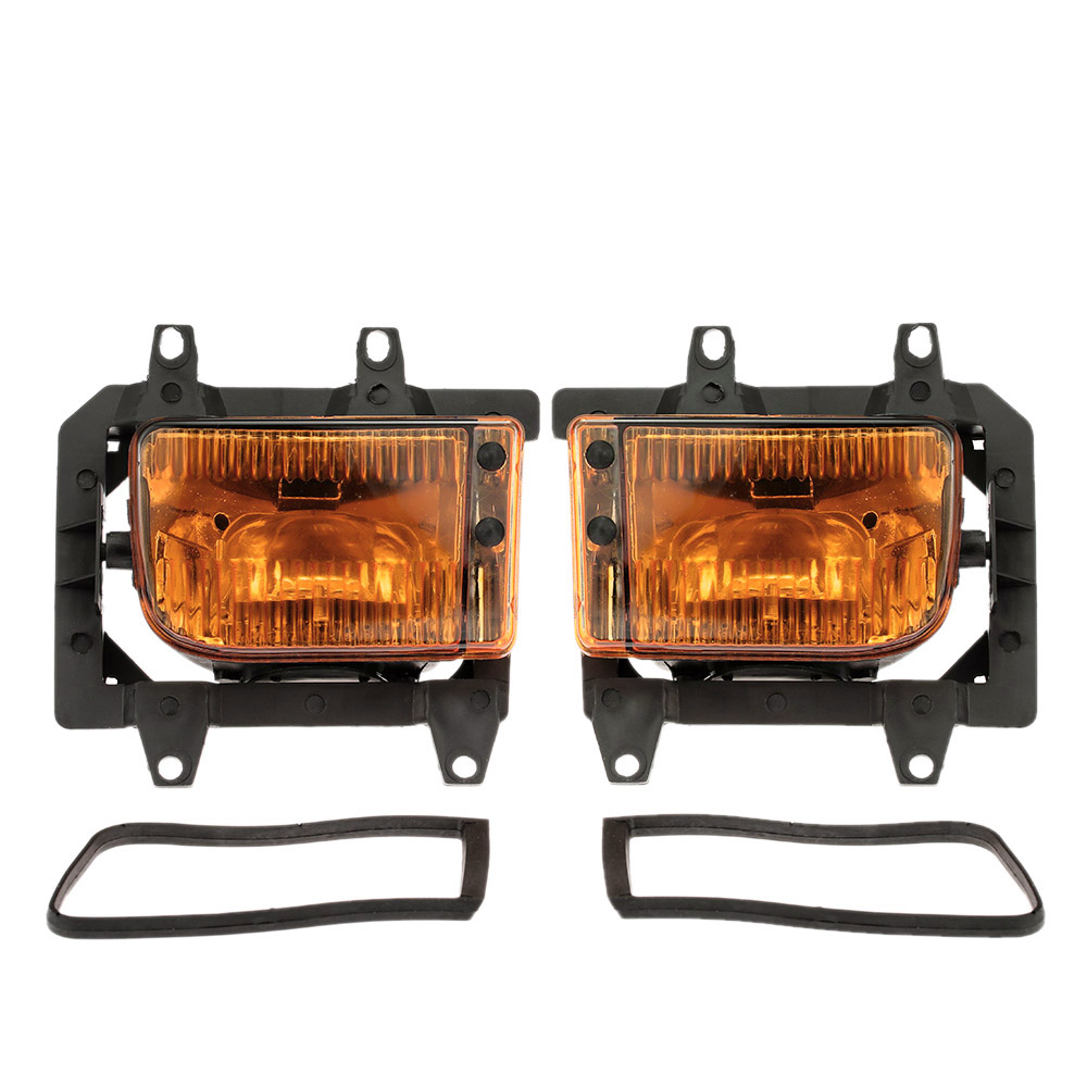 Pair of Left & Right Front Fog Light Transparent Plastic Lens Kit for BMW E30 3-Series 1985-1993 цена и фото