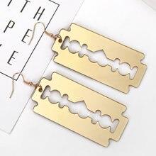 Xiyanike Новый дизайн Акриловые лезвия Висячие серьги для мужчин