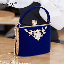 YYW Crystal Clutches Bag Party purse Women Evening Bags Handbag crossb