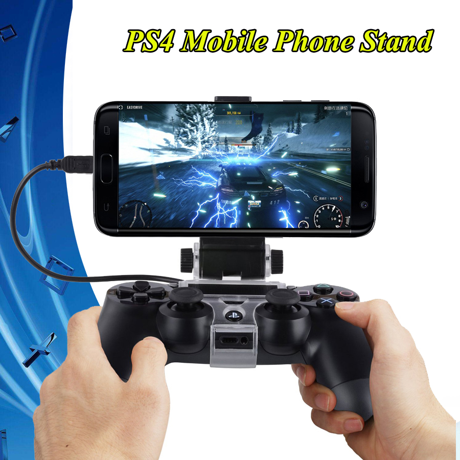 2019 PS 4 Game Controller Holder Gamepad Cradle Extendable Mobile Phone Stand with Cable Play Station 4 Joystick PS4 Accessories