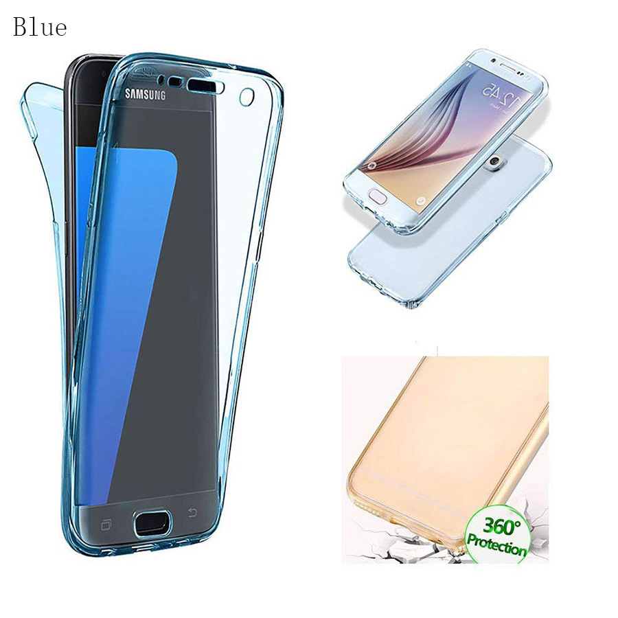 LYQLKL Front+Back Case 360 Degree Full Body Two Crystal TPU Case For ... 4d04d3198656