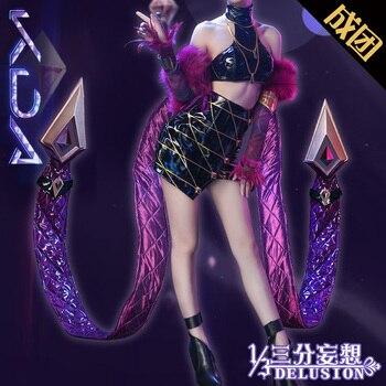 ¡Caliente! LOL K/DA KDA Kaisa Evelynn Akali Ahri disfraz Cosplay de mujer grupo de miembros uniformes envío gratis