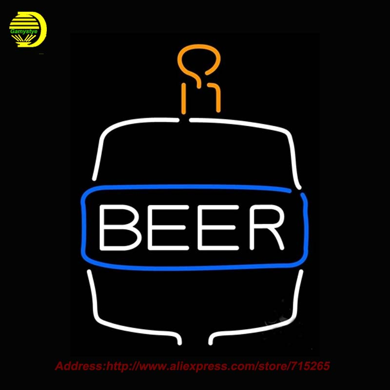 Beer Bottle Neon Sign Neon Bulb Handcrafted Real Glass Tube Affiche Light Recreation Room Window wall Beer Bar Pub Sign 17x14  wild at heart neon sign advertise custom logo neon bulb beer glass tube handcrafted neon glass tubes recreation room lamps 17x14