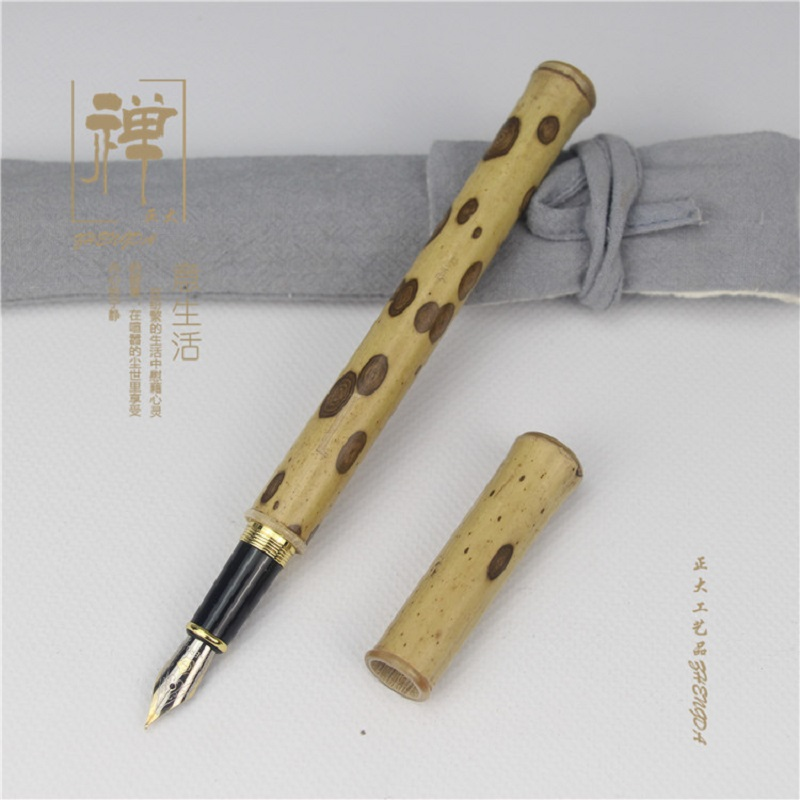 Image 2 - Natural butterfly bamboo high grade pen hero pen bamboo signature pen fountain pen-in Fountain Pens from Office & School Supplies