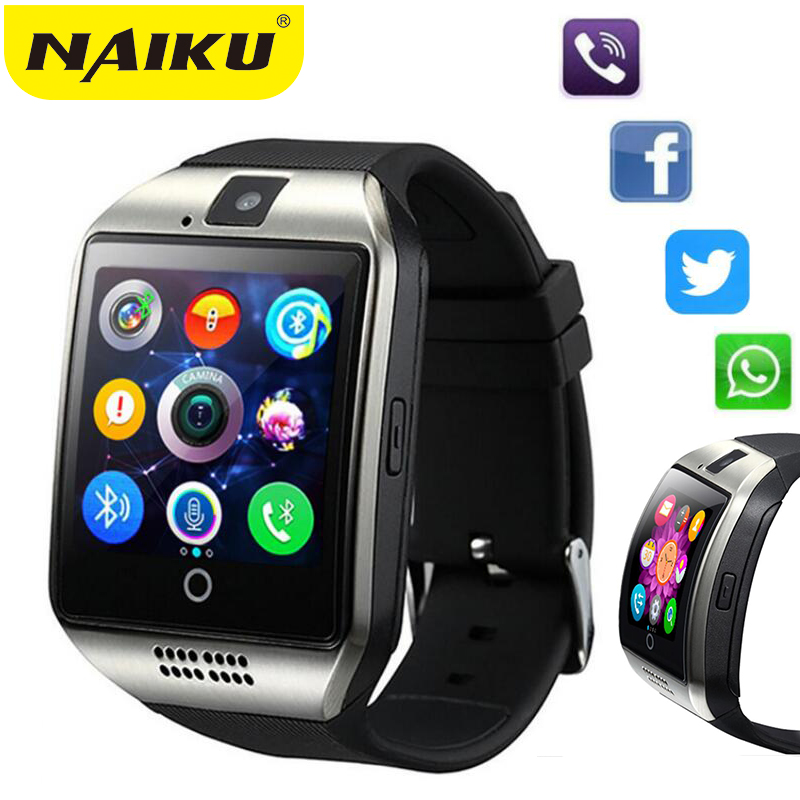 NAIKU Smart Watch Q18 Passometer with Touch Screen camera Support TF card <font><b>Bluetooth</b></font> smartwatch for Android IOS <font><b>Phone</b></font>
