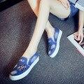 High Quality Women's Jeans Shoes flats Fashion Casual Denim Shoes Soft Soles Students Canvas Shoes Breathable Shoe New 6 80