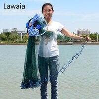 Lawaia Green Fishing Net Four Generation Aluminum Ring Green Netting Cast Net Iron Pendant American Fish