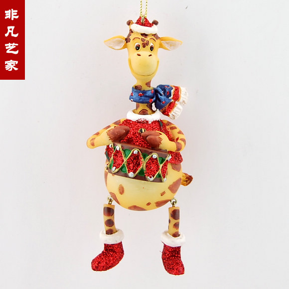 Foreign trade of the original single Christmas tree ornaments Christmas  ornaments giraffe drumming Christmas decorations - Foreign Trade Of The Original Single Christmas Tree Ornaments