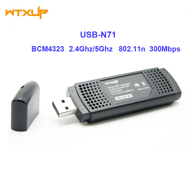 Dual Band 300 Mbps Wifi USB Wireless N Adapter USB N71 Dongle ...